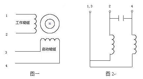 单相电机正反转接线图及其工作原理