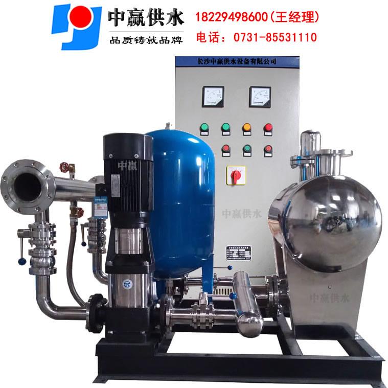 保持供水系统管网中的末端压力(服务压力),系统可在水泵高效区最大